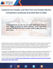 Carbonyl Iron Powder and Ultra Fine Iron Powder Market Competitive Landscape & Growth Rate to 2022.pdf