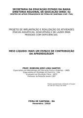 Projeto CAP - Natação 2010.doc