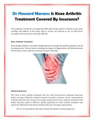 Dr Howard Marans Is Knee Arthritis Treatment Covered By Insurance.pdf