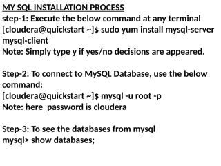 MySQL & SQOOP INSTALLATION guide.pptx