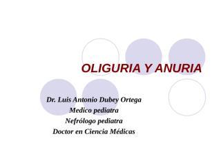 OLIGURIA Y ANURIA , 2009 FAC MEDICINA.ppt