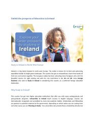 Blog - Unfold the prospects of Education in Ireland.docx