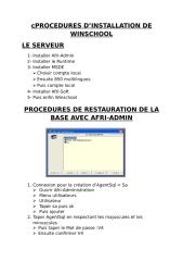 PROCEDURES DE RESTAURATION DE LA BASE AVEC AFRI.doc