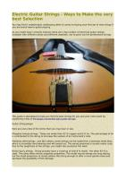 Electric Guitar Strings - Ways to Make the very best Selection.pdf