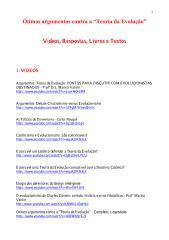 Ótimos argumentos contra a 'Teoria da Evolução' - Atualização 2.pdf