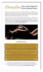 Tips to Find a Right Full Service Massage Parlour.pdf