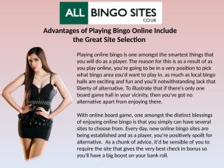 Advantages of Playing Bingo Online Include the Great Site Selection.pptx