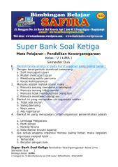 8. SUPER BANK SOAL PKN  KETIGA  KELAS LIMA  SEMESTER DUA.docx