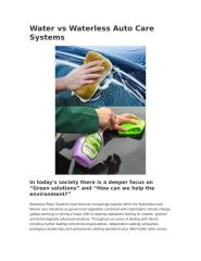 Water vs Waterless Auto Care Systems.docx