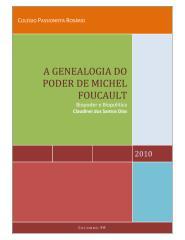 a genealogia do poder de michel foucault - 3º em.pdf